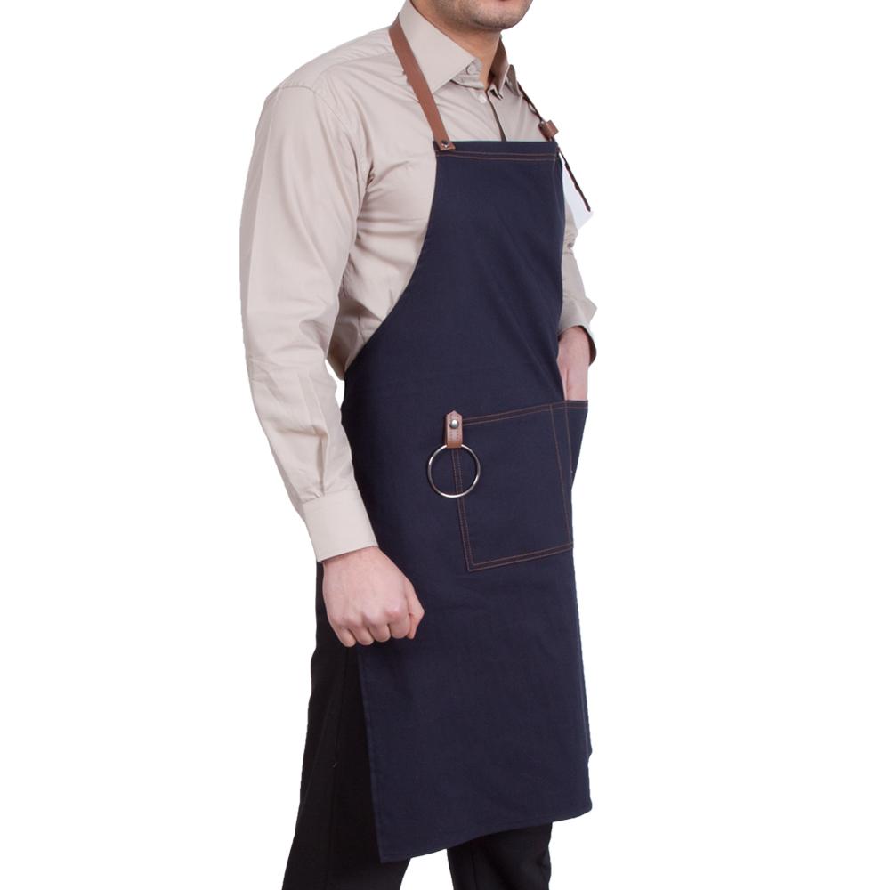 Cafe Önlük Kanvas Kumaş (Barista, Garson, Şef, Aşçı, Kasap) Boyundan Askılı
