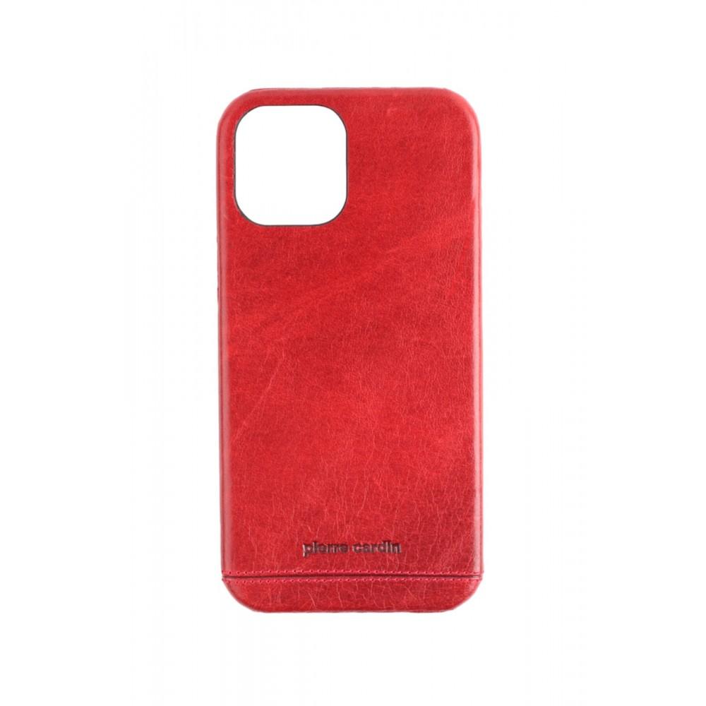 Pierre Cardin 12- 12Pro iPhone Klasik Deri Arka Kapak