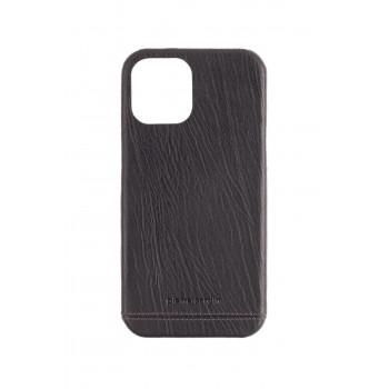 Pierre Cardin Iphone 12promax Siyah Klasik Deri Arka Kapak