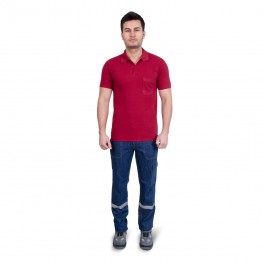 T SHİRT POLO YAKA BORDO
